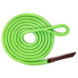 """Knotty Girlz Premium 9/16"""" Double Braid Polyester Yacht Rope Horse Lead Rope with Eye Spliced Loop (Neon Green, 12ft.)"""