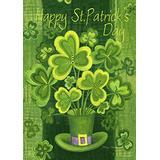 Toland Home Garden Shamrockin' 28 x 40 Inch Decorative Happy St Patrick's Day Shamrock Clover House Flag - 102577