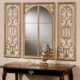Provence Antique Gold Wall Mirror Set of Three, Set of Three, Antique Gold