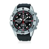 Seiko SNDD95P2 Mens Chronograph Stainless Steel Case Rubber Bracelet Black Dial Watch