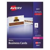 """""""Avery Laser Business Cards, 2 X 3 1/2, White, 10 Cards/sheet, 2500/box (Ave5911)"""""""