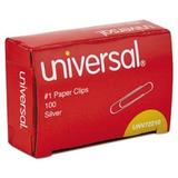 """""""Universal Paper Clips, Smooth Finish Silver, 1000 Paper Clips (Unv72210)"""""""