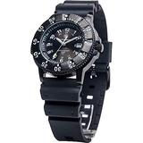 Smith & Wesson Men's Sports Watch, Swiss Tritium H3 20ATM Black Dial and Band Military Tactical Tough Watch, 40mm