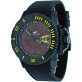Adee Kaye #AK7779-M Men's Black Aluminum Red Dial Casual Sports Watch