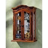 Design Toscano Beacon Hill Hardwood Wall Curio Cabinet,Oak