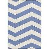 Surya Frontier FT-275 Flatweave Hand Woven 100% Wool Periwinkle 2' x 3' Geometric Accent Rug