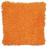 Shagadelic Chenille Twist Shag Pillow, 18-Inch, Copper