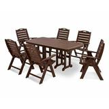 POLYWOOD® Nautical 7 Piece Dining Set Plastic, Size 37.0 H x 72.0 D in   Wayfair PWS125-1-MA