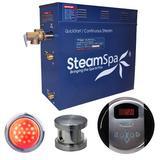 Steam Spa Indulgence 7.5 KW QuickStart Steam Generator Package in Gray, Size 14.5 H x 16.0 W x 6.5 D in | Wayfair IN750BN
