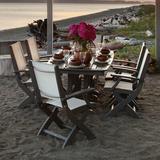 POLYWOOD® Coastal 7 Piece Dining Set Plastic in Gray | Wayfair PWS154-1-GY901