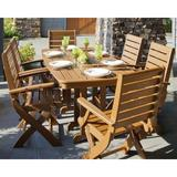 POLYWOOD® Signature 7 Piece Dining Set Plastic in Brown, Size 29.0 H x 71.5 W x 36.75 D in | Wayfair PWS151-1-TE