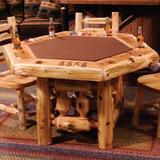 Fireside Lodge Cedar 6 Sided Poker Table, Size 30.0 H x 54.0 W x 54.0 D in | Wayfair 16705