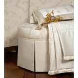 Eastern Accents Brookfield Hayes Blossom Cotton Throw Cotton in Brown/White, Size 80.0 H x 53.0 W in | Wayfair THO-170