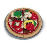 Melissa & Doug 40 Piece Felt Food Pizza Set Plastic in Brown/Red, Size 11.25 H x 11.25 W x 1.1 D in   Wayfair 3974