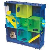 "Ware Manufacturing Critter Universe 3-Wall Small Animal Modular Habitat, Acrylic/Plastic in Yellow/Blue/Green, Size 19""H X 18""W X 5""D | Wayfair"