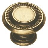 "Hickory Hardware Manor House 1"" Diameter Mushroom Knob Metal, Size 0.75 D in   Wayfair P8011-LP"
