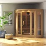 Dynamic Infrared Maxxus Series 3 Person FAR Infrared Sauna in Brown, Size 75.0 H x 60.0 W x 60.0 D in | Wayfair MX-K356-01