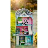 Teamson Kids Monster Mansion Doll House Manufactured Wood in Brown/Pink, Size 51.5 H x 6.38 W x 31.38 D in | Wayfair W-11094A