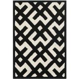Safavieh Chatham Collection CHT719A Handmade Geometric Premium Wool Accent Rug, 2' x 3', Ivory / Black