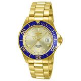 Invicta Mens Pro Diver 40mm Gold Tone Stainless Steel Quartz Watch, Gold (Model: 14124)