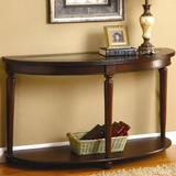 """Hokku Designs Granvia 48"""" Solid Wood Console Table Wood/Glass in Brown, Size 29.0 H x 48.0 W x 18.0 D in   Wayfair KUI2320 13039331"""