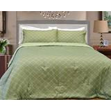 Natural Comfort Luxury Lines Microfiber Reversible Comforter Set, Queen, Tiffany jade