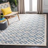 Safavieh Chatham Collection CHT719B Handmade Geometric Premium Wool Accent Rug, 2' x 3', Blue / Ivory