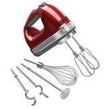 KitchenAid KHM926CA 9 Speed Hand Mixer w/ Exclusive Accessory Pack, Candy Apple Red