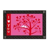 """I Love You Valentine's Day Doormat Indoor Outdoor MatMates 18"""" x 30"""" Holiday"""
