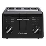 Cuisinart 4 CPT-142BK 4-Slice Compact Plastic Toaster, Black