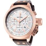 TW Steel Men's CE1020 CEO Canteen Brown Leather White Chronograph Dial Watch