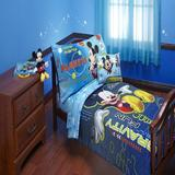 Disney Mickey Mouse Space Adventures 4 Piece Toddler Bedding Set Polyester in Blue | Wayfair 6091416