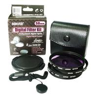 Bower 5-Piece 58mm Digital Lens Filter Kit - VFK58C