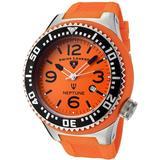 Swiss Legend Men's Quartz Watch with Orange Dial Analogue Display and Orange Rubber Strap SL00002/54