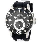 Invicta Men's 12703 Russian Diver Black Dial Black Silicone Watch