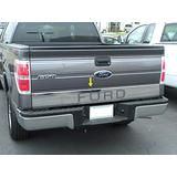Made in USA! Compatible with 2004-2014 Ford F150 Tailgate Overlay Trim with Ford Chrome Stainless Steel Molding Moulding Trim Accent 6 1/4'' Wide 4PC