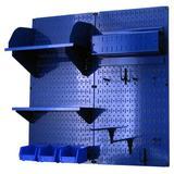 Wall Control Hobby Craft Pegboard Organizer Storage Kit in Blue, Size 32.0 H x 32.0 W x 9.0 D in   Wayfair 30-CC-200 BUBU