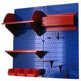 Wall Control Hobby Craft Pegboard Organizer Storage Kit in Blue, Size 32.0 H x 32.0 W x 9.0 D in   Wayfair 30-CC-200 BUR
