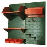 Wall Control Hobby Craft Pegboard Organizer Storage Kit in Green, Size 32.0 H x 32.0 W x 9.0 D in   Wayfair 30-CC-200 GNR