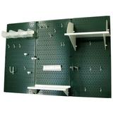 "Wall Control Pegboard Standard Tool Storage 32"" H x 48"" W Kit Metal in Green, Size 32.0 H x 48.0 W x 9.0 D in   Wayfair 30-WRK-400 GNW"
