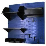 Wall Control Hobby Craft Pegboard Organizer Storage Kit in Blue, Size 32.0 H x 32.0 W x 9.0 D in   Wayfair 30-CC-200 BUB