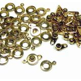 The Beadsmith 8-Millimeter Ball and Socket Clasp, Bag of 36 Pieces, Jewelry-Making Connectors (Gold)