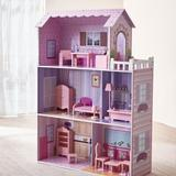 Teamson Kids Fancy Mansion Doll House Manufactured Wood in Brown, Size 44.5 H x 11.5 W x 31.0 D in | Wayfair KYD-10922A