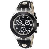 Swatch Men's SVCK4072 Analog Display Swiss Quartz Black Watch