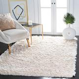 Safavieh Paris Shag Collection SG511 Handmade Silken Glam 2.5-inch Thick Accent Rug, 2' x 3', Ivory
