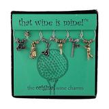Wine Things Fore Wine Charms, Fits neatly around stem, Multicolor