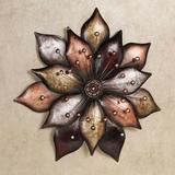 Arris Floret Wall Art Multi Metallic , Multi Metallic