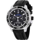 Tag Heuer Aquaracer Automatic Chronograph Black Dial Black Rubber Mens Watch CAK211A.FT8019