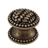 "Vicenza Designs Cestino 1 1/4"" Diameter Mushroom Knob Metal in Gray, Size 1.0 D in | Wayfair K1042-PN"
