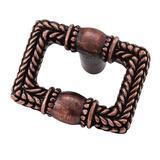 "Vicenza Designs Cestino 1 5/8"" Rectangle Knob Metal in Brown, Size 1.625 H x 1.25 W x 0.875 D in | Wayfair K1070-AC"